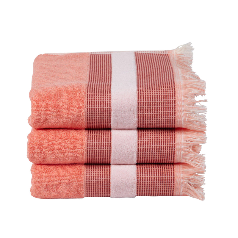 Carlye Salmon Hand Towels