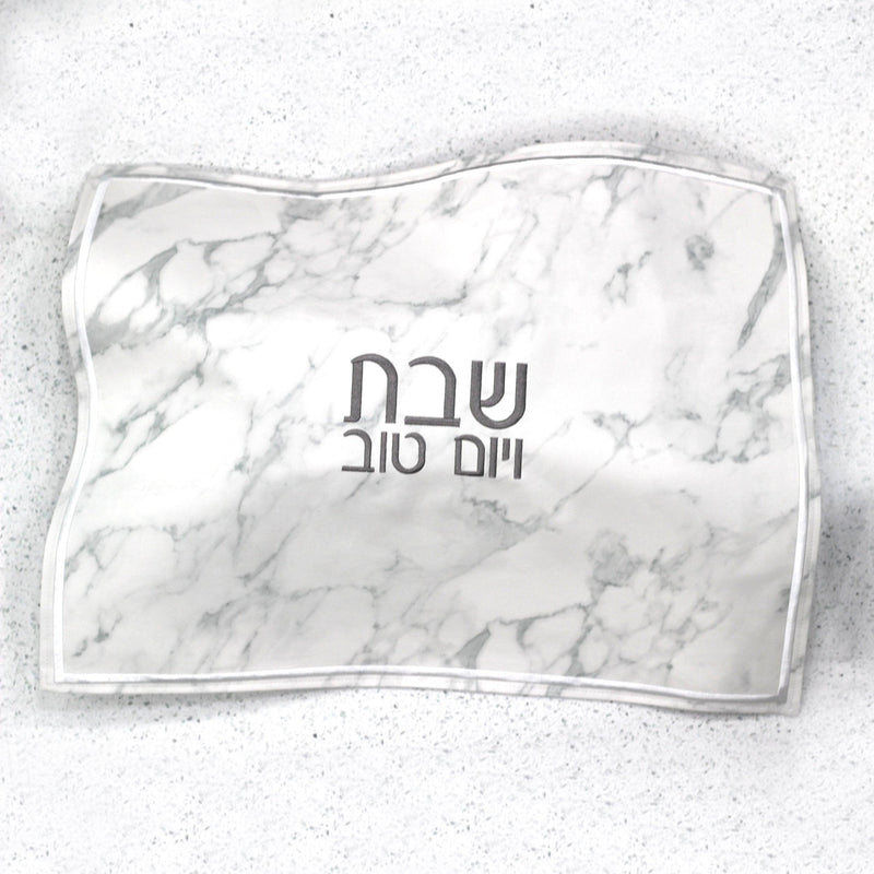 Leather Challah Cover - Marble