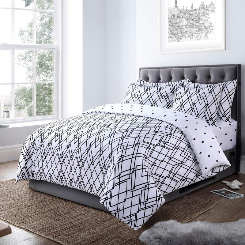 Deco Graph 4 Piece Bedding Set