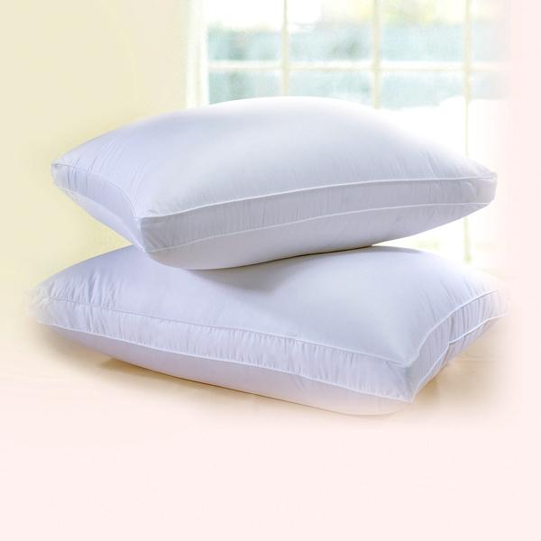 Himalaya Gusseted 700 or 800 Fill Power White Goose Down European Pillow - Elegant Linen