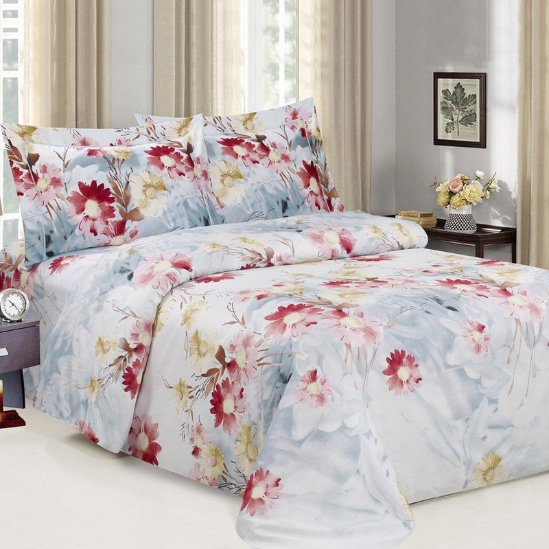 French Blossom 8 Piece Bedding Set