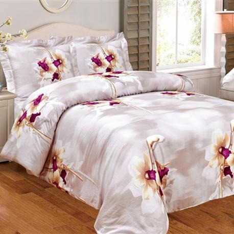 French Lilies 8 Piece Bedding Set - Elegant Linen