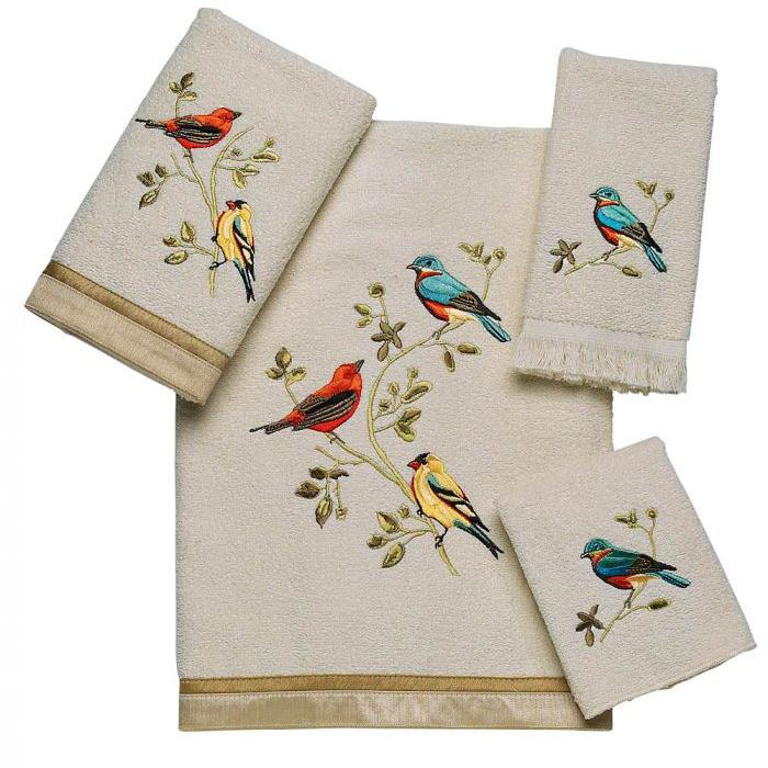 Avanti Gilded Birds Collection Towels