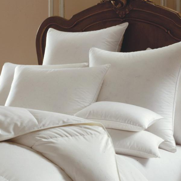 Himalaya 700 or 800 Fill Power White Goose Down European Pillow - Elegant Linen