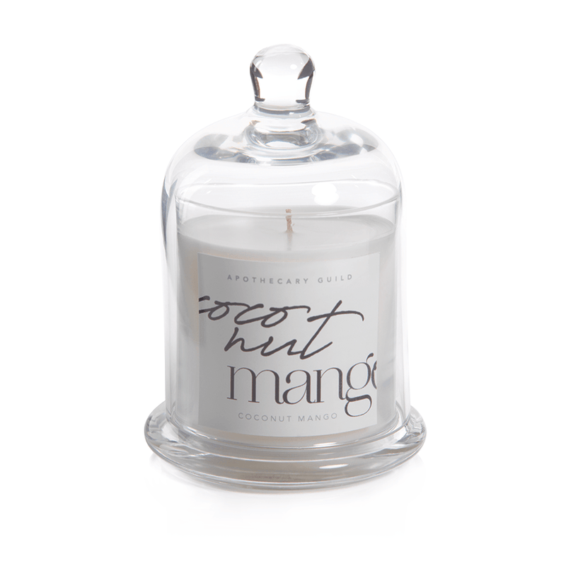 Coconut Mango Apothecary Guild Scented Candle Jar with Glass Dome