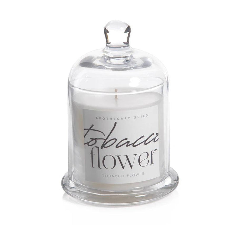 Tobacco Flower Apothecary Guild Scented Candle Jar with Glass Dome