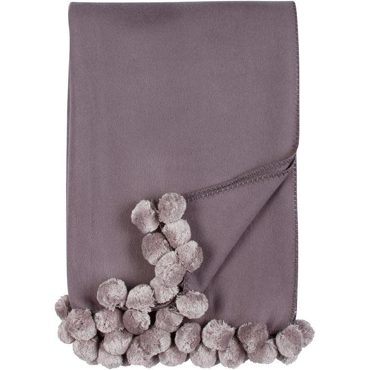 Luxxe Pom Pom Throw - Elegant Linen