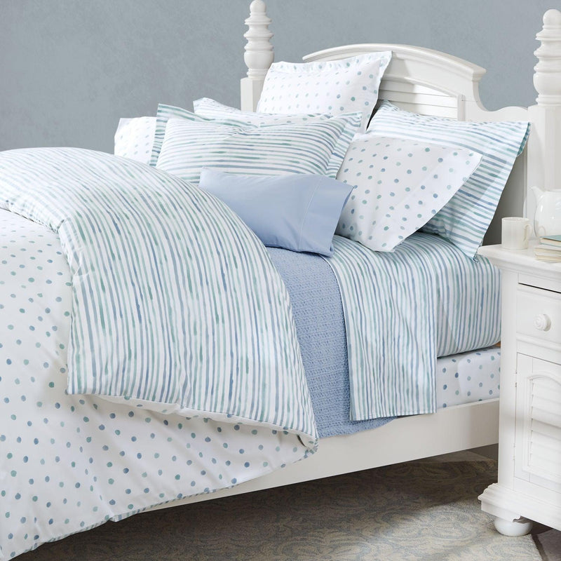 Elegant Linen Marloe Azure Seaglass  4 Piece Bedding set