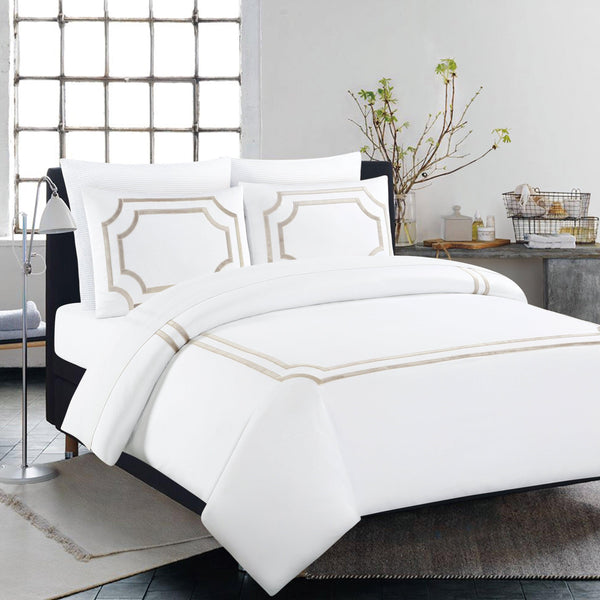 Elegant Linen Montage 4 Piece Bedding set