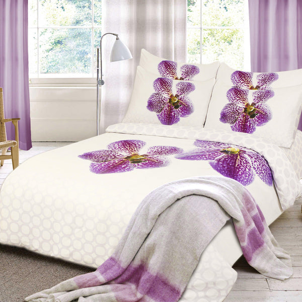 Elegant Linen Orchid Fresh 4 Piece Bedding set