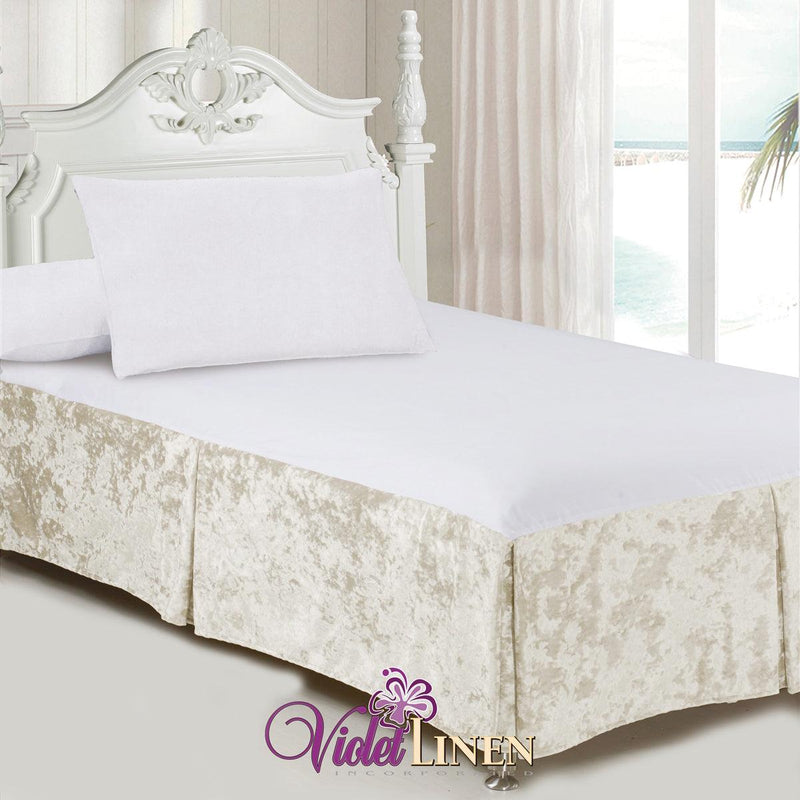 Velveteen Tailored Bed Skirt