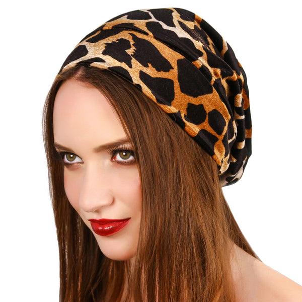 Giraffe Print Beanie - Kristin Perry Accessories