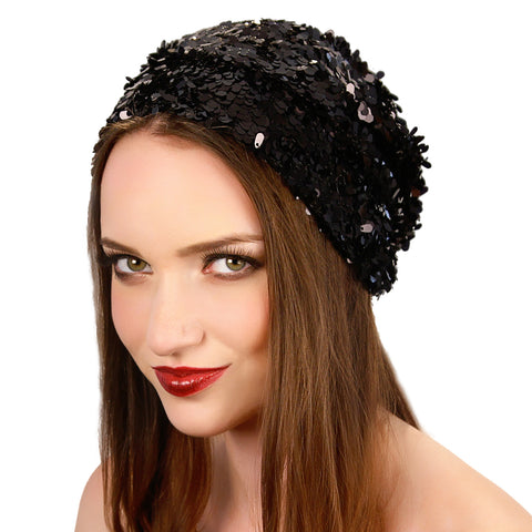 Sequin Slouch Beanie - Kristin Perry Accessories