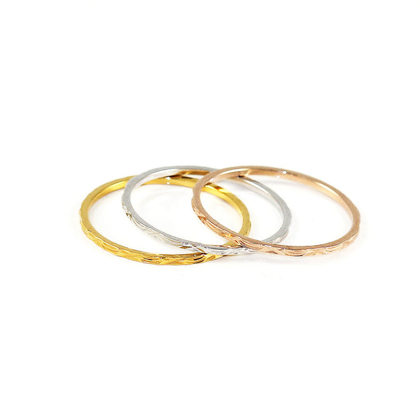 Dainty Trio Stack Rings - Kristin Perry Accessories - 1