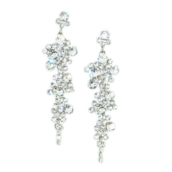 Cascading Crystals Earrings - Kristin Perry Accessories - 1