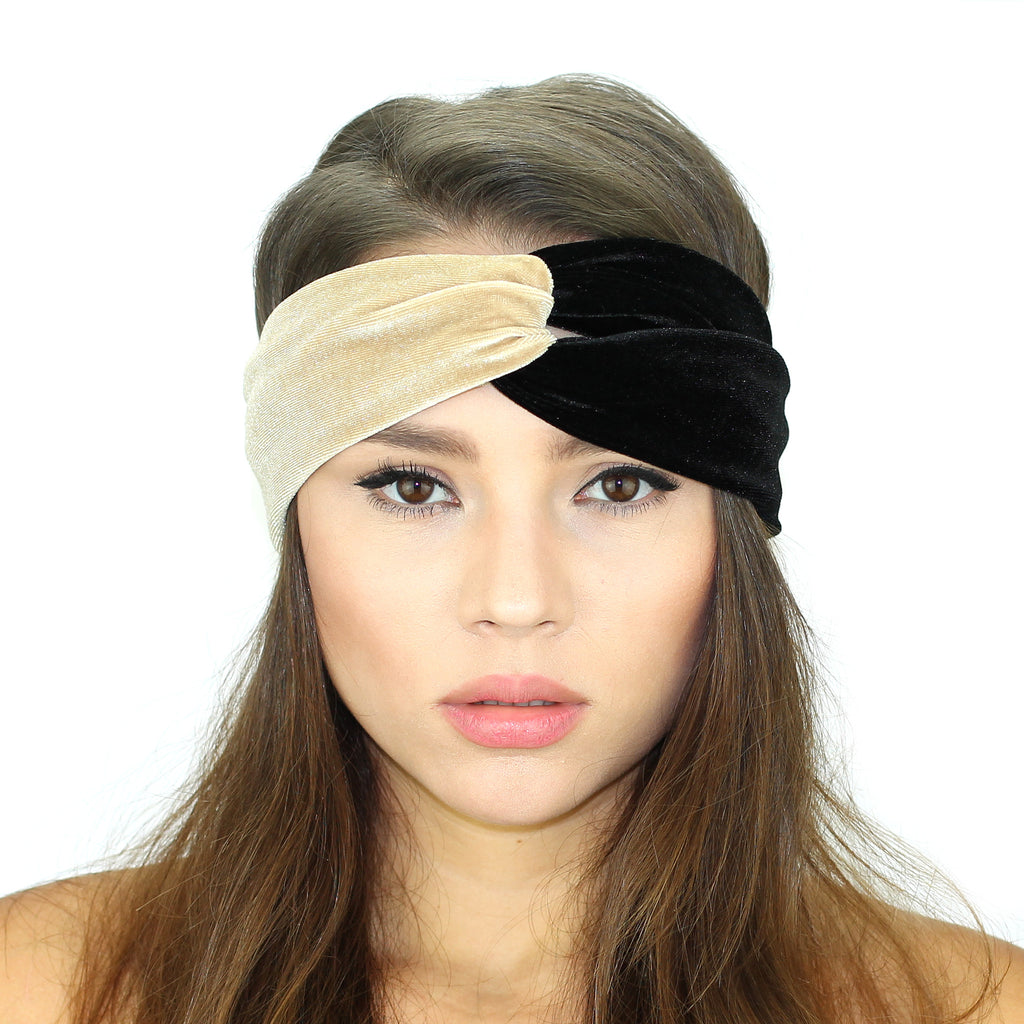 Velvet Color Block Headband - Kristin Perry Accessories