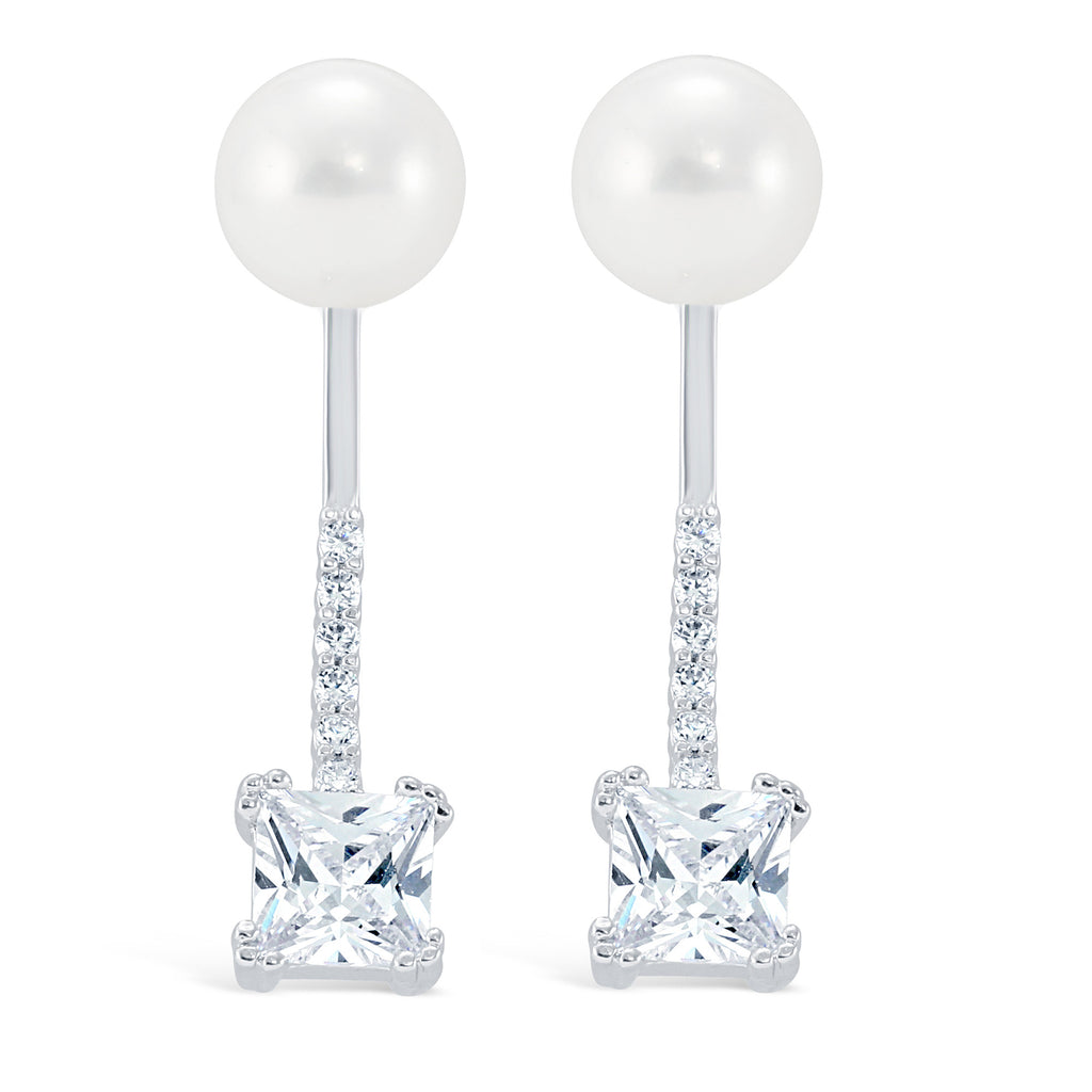 Cz Drop Pearl Ear Jacket