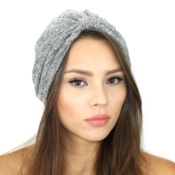 Rib Knit Sweater Turban - Kristin Perry Accessories - 1