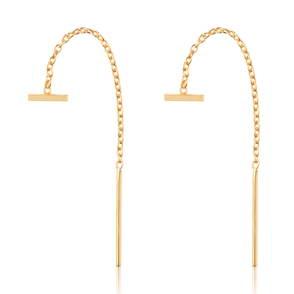 Minimal Bar Threader Earrings - Kristin Perry Accessories