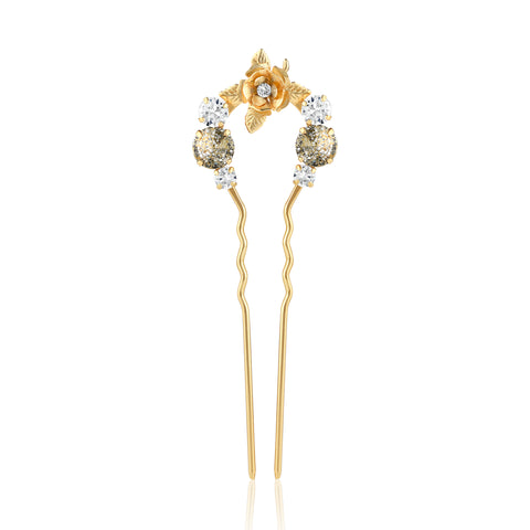 Crystal Floral Hair Comb - Kristin Perry Accessories