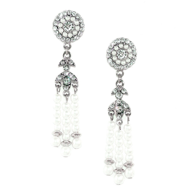 Deco Pearl Tassel Earrings - Kristin Perry Accessories