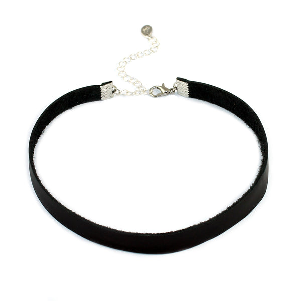 Genuine Leather Choker Necklace - Kristin Perry Accessories - 1