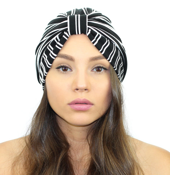 Pinstripe Turban - Kristin Perry Accessories