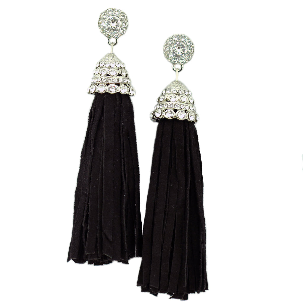 Suede Tassel Earrings - Kristin Perry Accessories