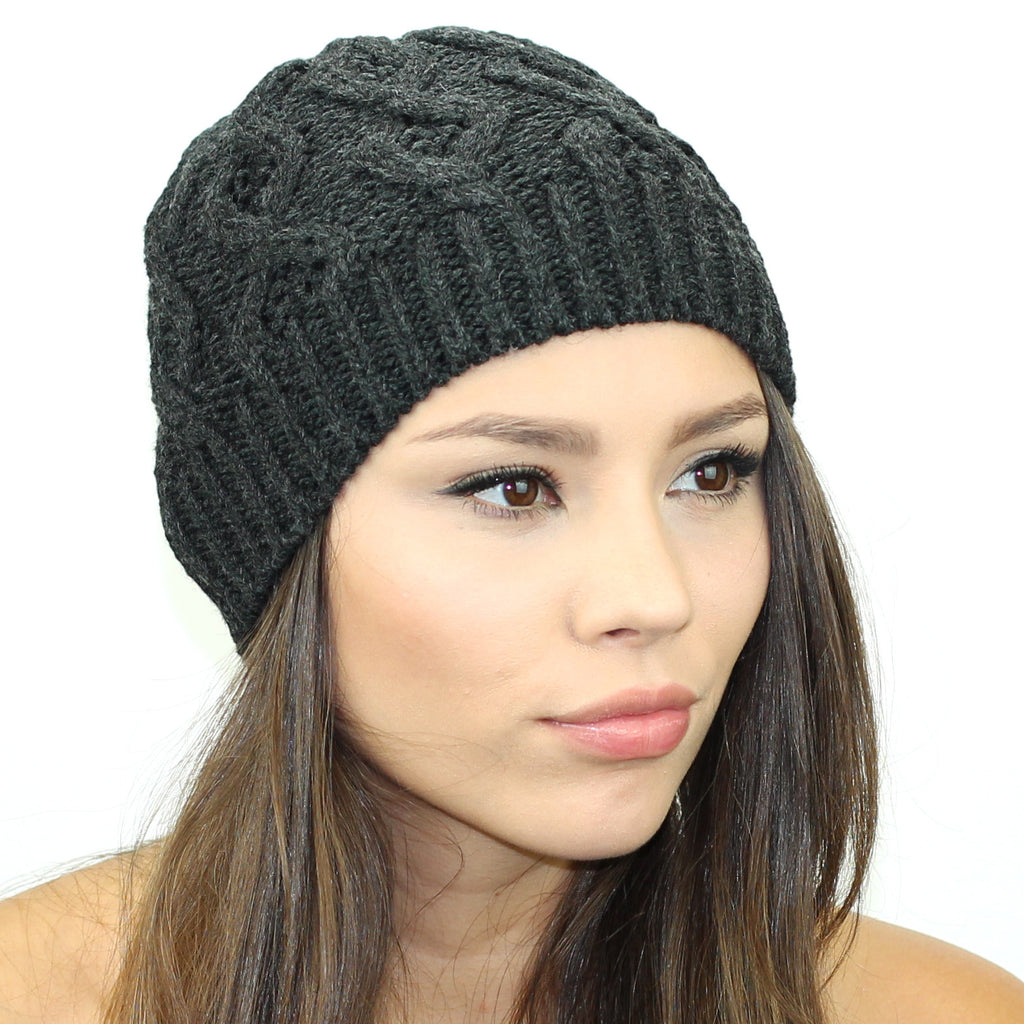 Sweater Knit Beanie - Kristin Perry Accessories - 1