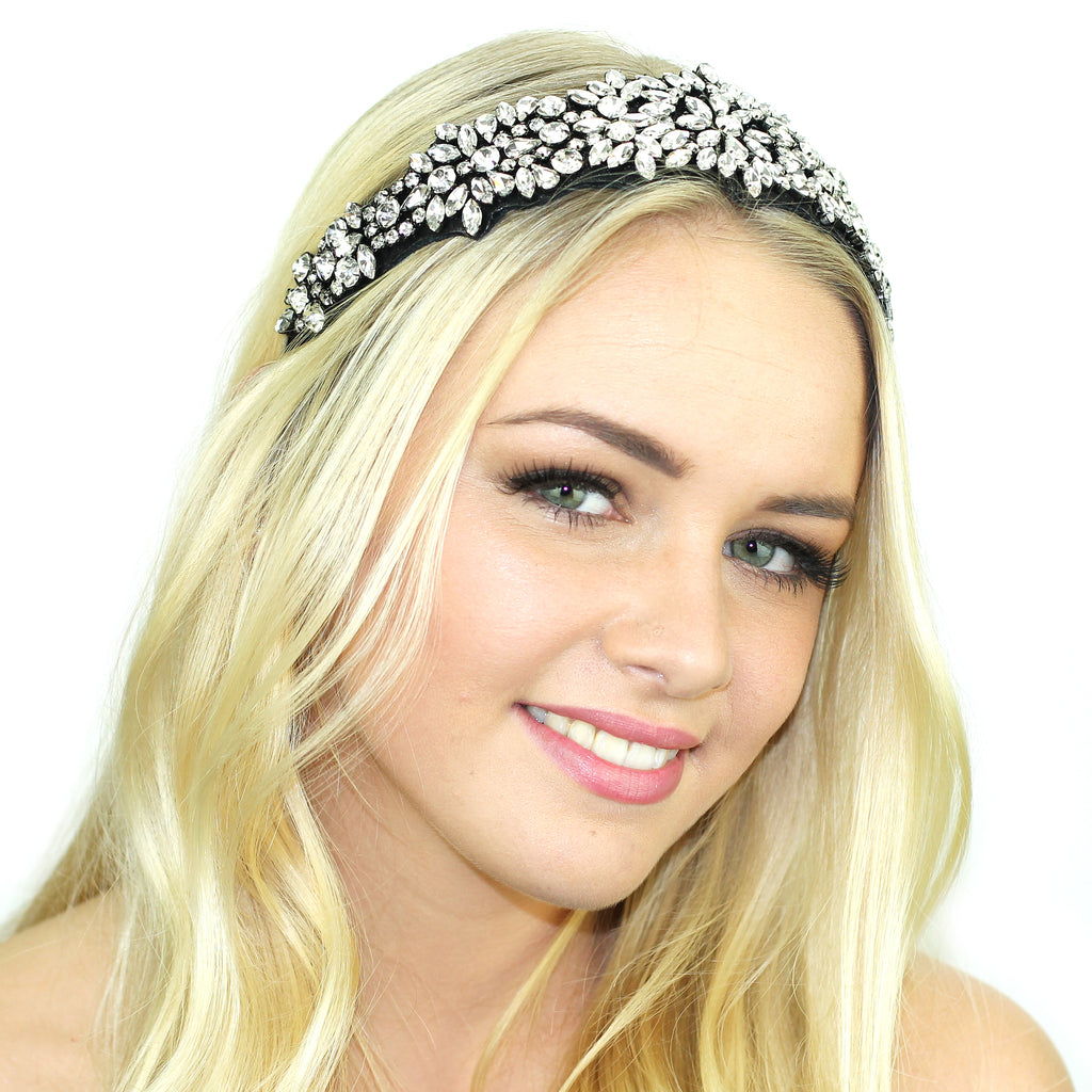 Suede Crusted Headband - Kristin Perry Accessories