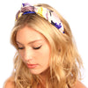 Royal Floral Silk Knot Headband - Kristin Perry Accessories - 1