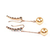 Pearl Drop Ear Climbers - Kristin Perry Accessories