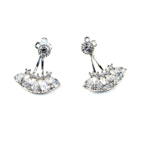 Crystal Fan Ear Jacket - Kristin Perry Accessories - 1