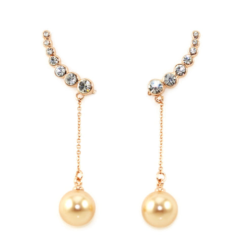 Pearl Drop Ear Climbers - Kristin Perry Accessories - 1