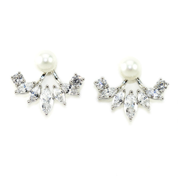 Iced Pearl Ear Jacket - Kristin Perry Accessories - 1