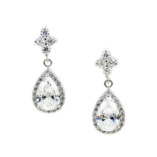 Teardrop Crystal Earrings - Kristin Perry Accessories - 1