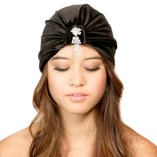 Cascading Crystals Turban - Kristin Perry Accessories - 1