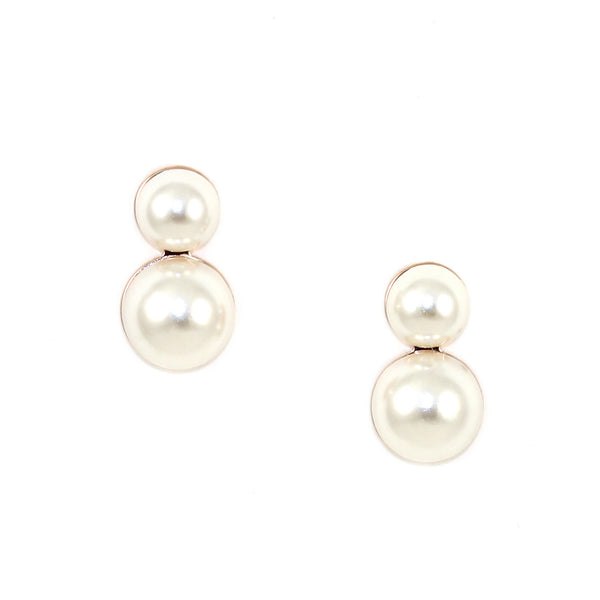 Flatback Pearl Earrings - Kristin Perry Accessories - 1