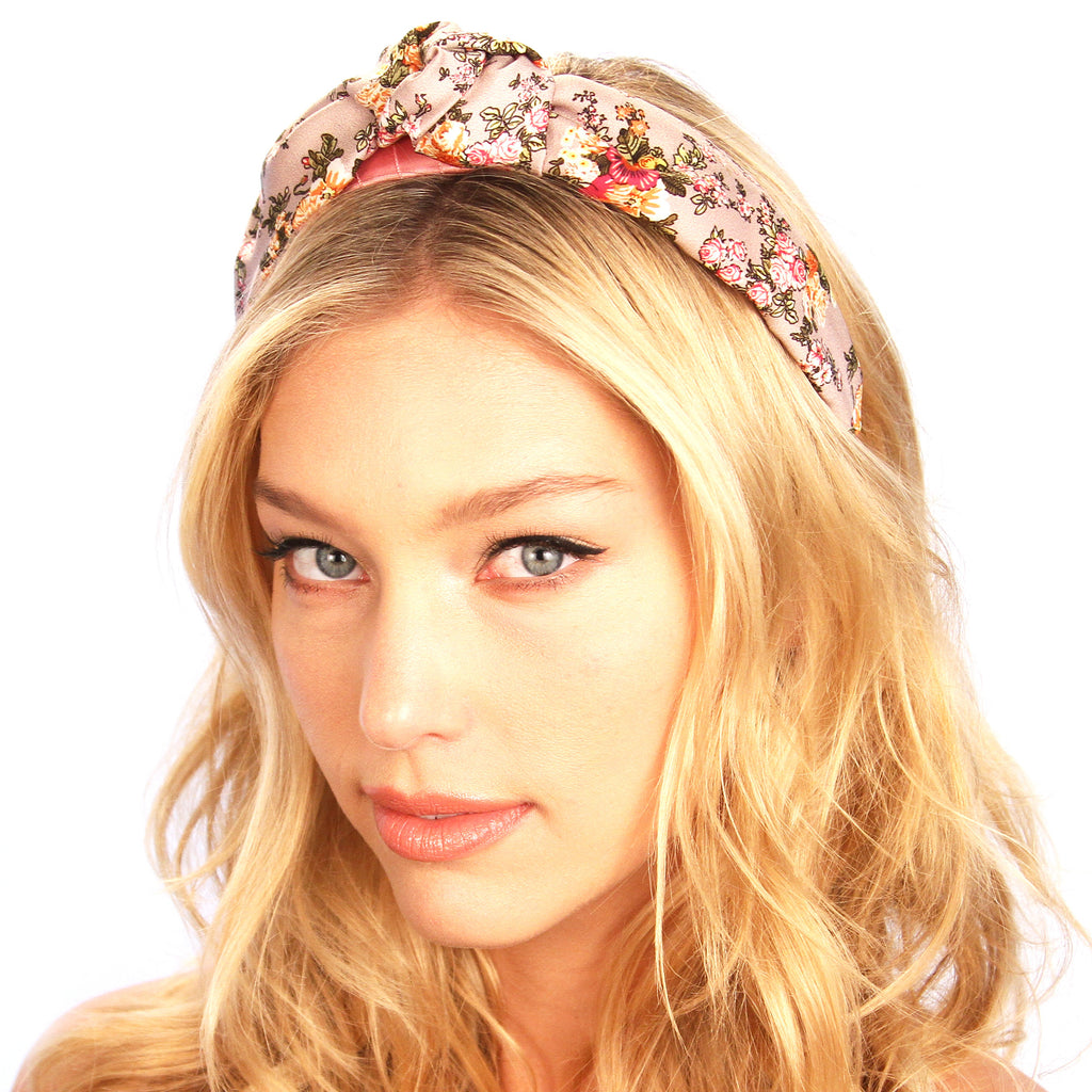 Floral Silk Top Knot Headband - Kristin Perry Accessories