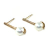 Pave' Bar Pearl Studs - Kristin Perry Accessories - 2