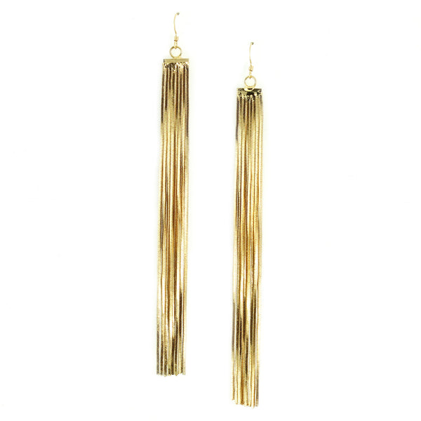 Golden Tassel Earrings - Kristin Perry Accessories - 1