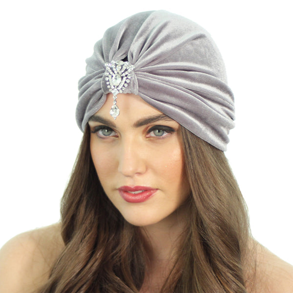 Flapper Pendant Turban - Kristin Perry Accessories