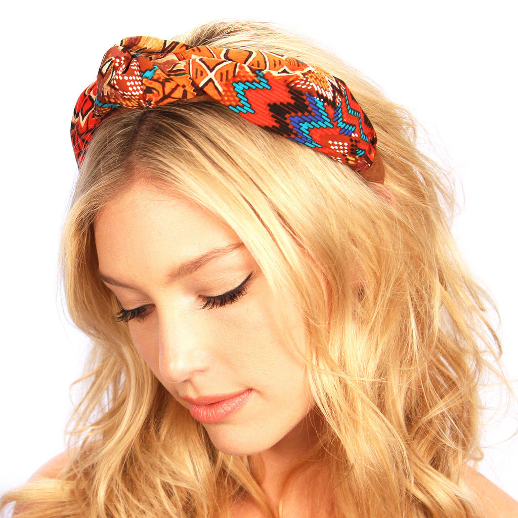 Aztec Suede Knot Headband - Kristin Perry Accessories - 1