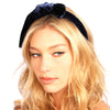 Velvet knot Headband - Kristin Perry Accessories