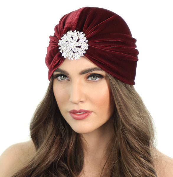 CRYSTAL FLORAL FLAPPER TURBAN - Kristin Perry Accessories - 1