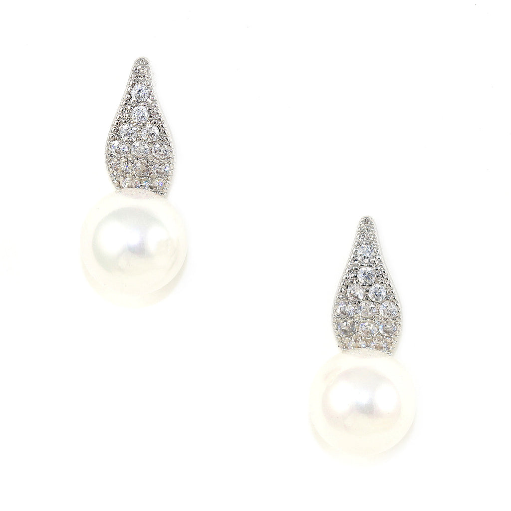 Pearl Petal Earrings - Kristin Perry Accessories - 1