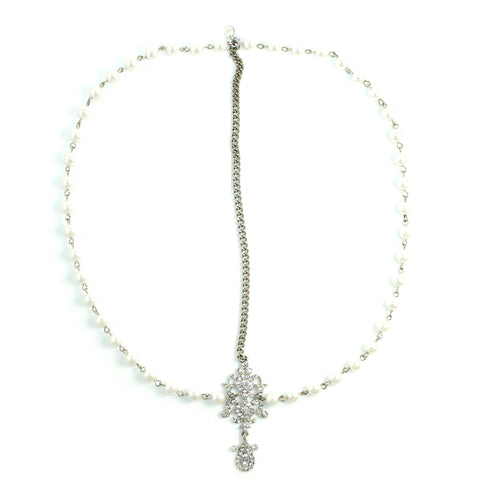 Draping Pearls Chain Headpiece - Kristin Perry Accessories