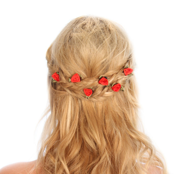 Rose Bud Hair Grips - Kristin Perry Accessories - 1