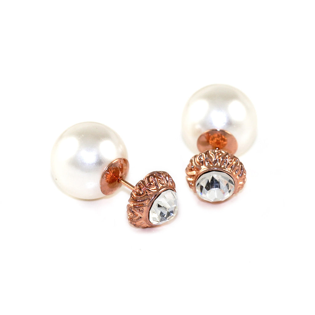 Glamour Pearl Drop Earrings - Kristin Perry Accessories - 1