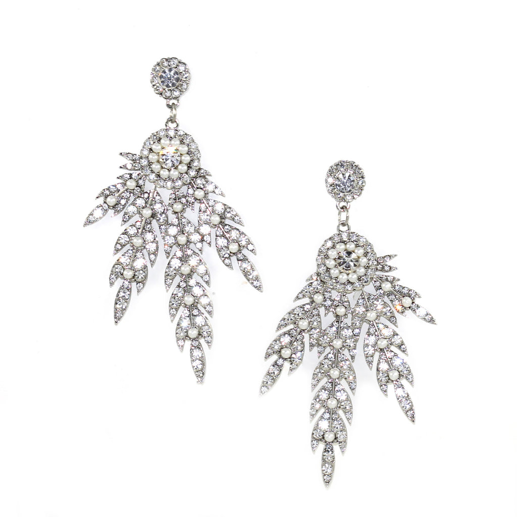 Leaf Sparkle Earrings - Kristin Perry Accessories - 1